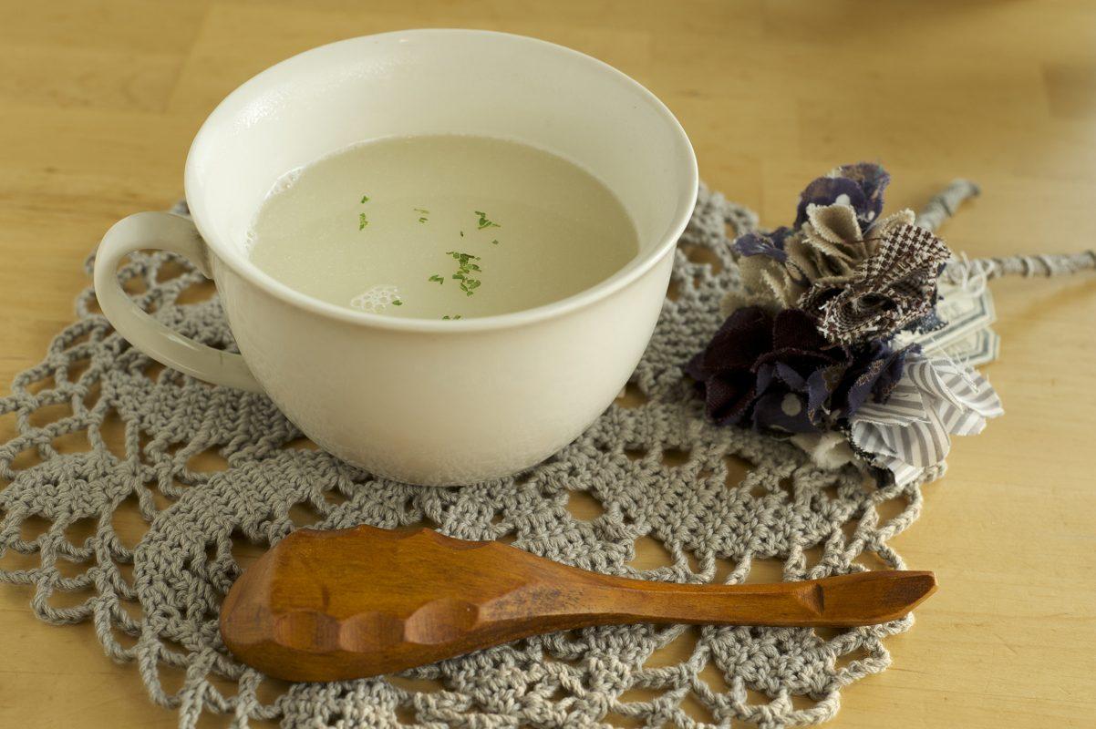 白花豆のポタージュ調理