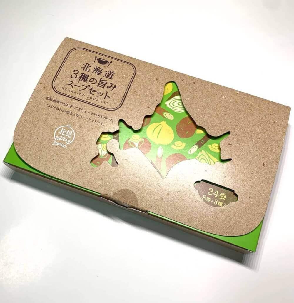 北海道3種の旨みスープセット、パッケージ